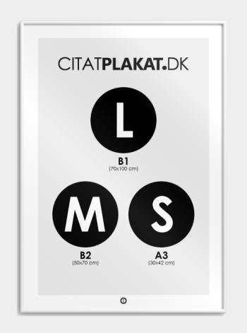 Plakatramme i mat hvid aluprofil (hvid ramme)