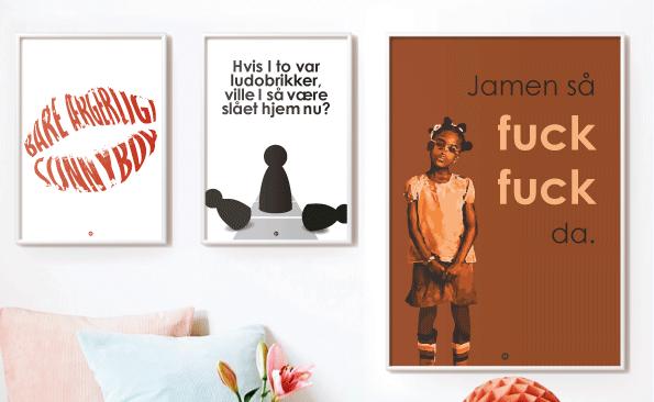 Plakater med citater fra Den Eneste Ene