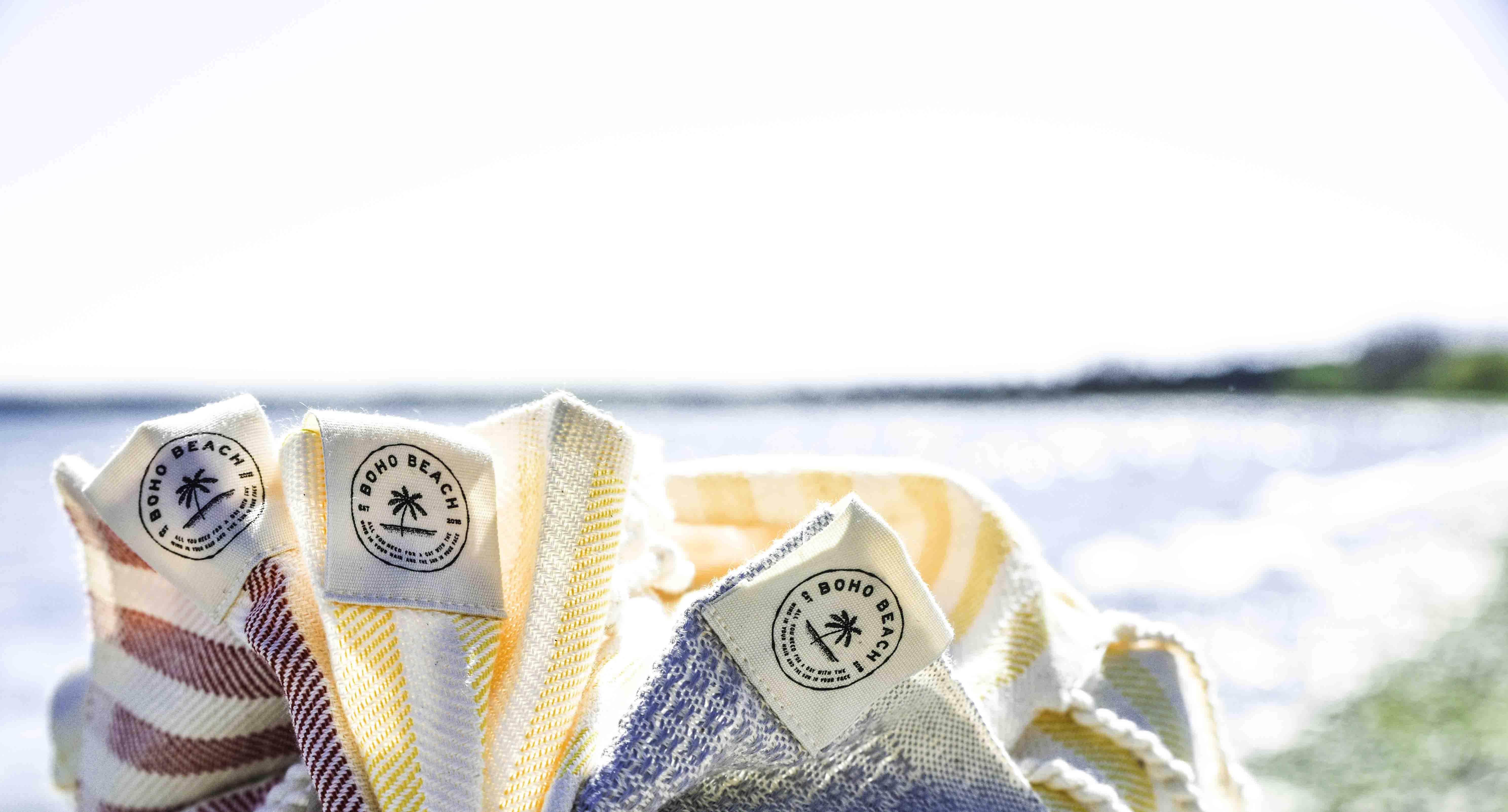 Hammam strandhåndklæder fra BohoBeach.shop