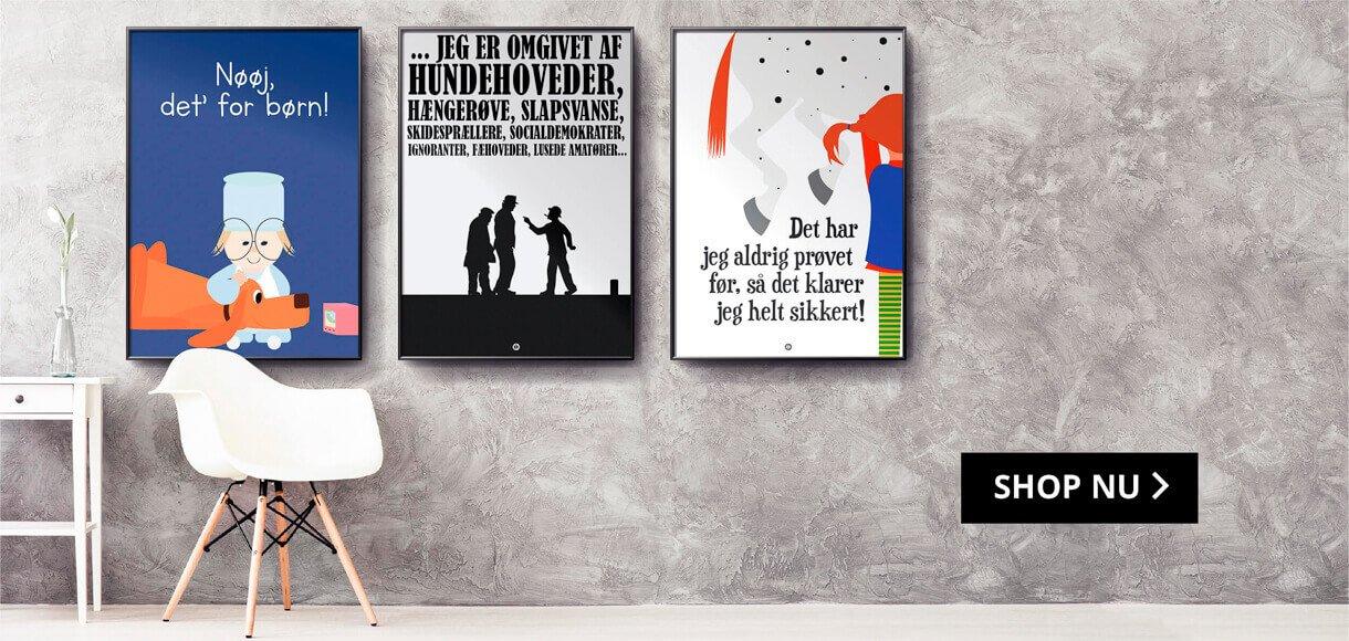 Plakater med sjove citater