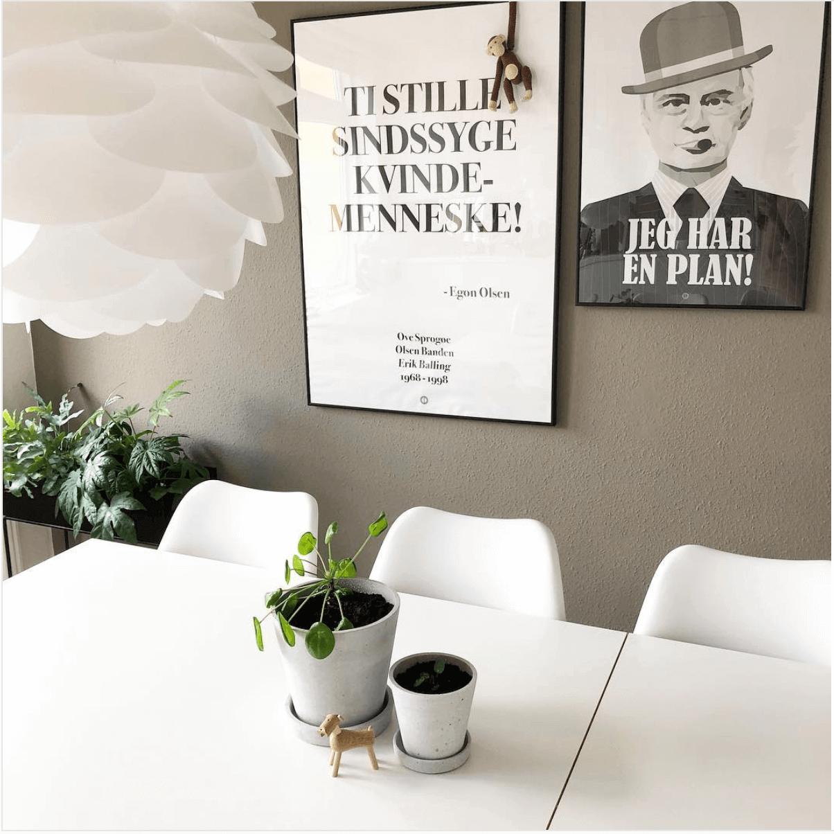 Plakater med sjove olsen banden citater