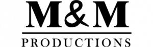 M&M Productions logo i samarbejde med citatplakat på forside