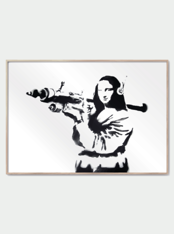 mona lisa bazooka banksy plakat