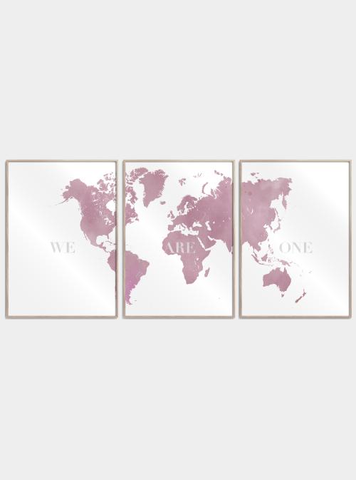 we are one verdenskort