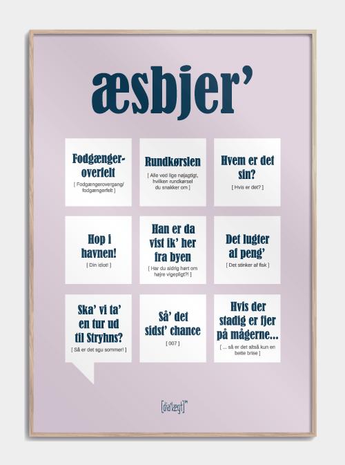 Sjov plakat om Esbjerg