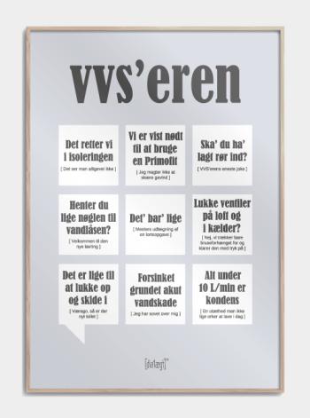 Sjov plakat om VVS'eren
