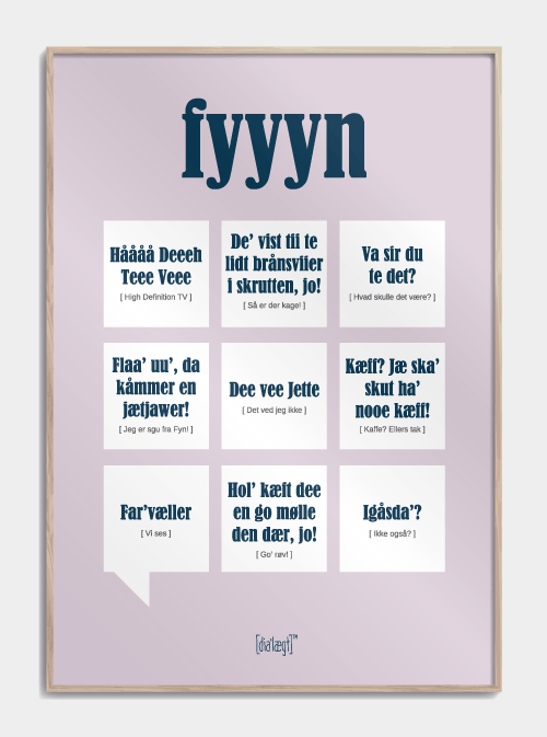Sjov plakat til Fynboeren
