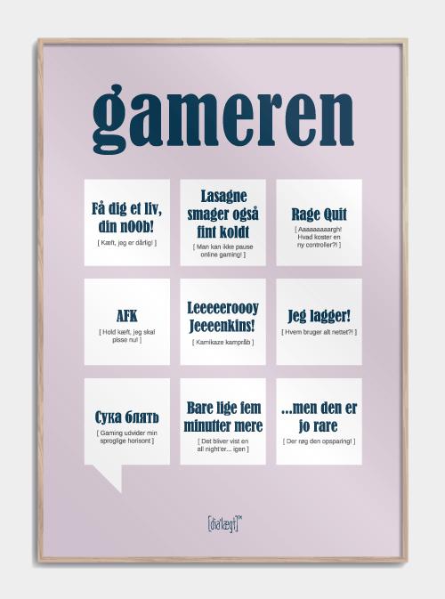 Sjov plakat til gameren