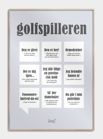 Sjov plakat til golfspilleren