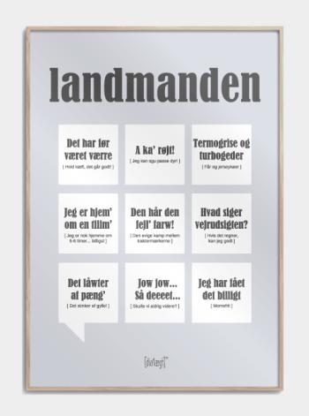 Sjov plakat til landmanden