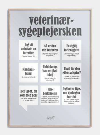 Sjov plakat til veterinærsygeplejersken