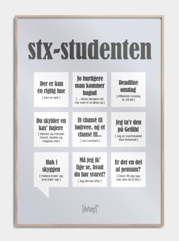 Sjov plakat om at være STX-student