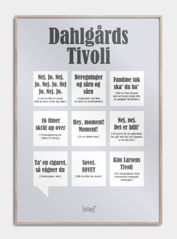 Sjov plakat til Dahlsgårds Tivoli
