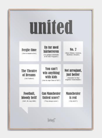 Sjov plakat til United fans