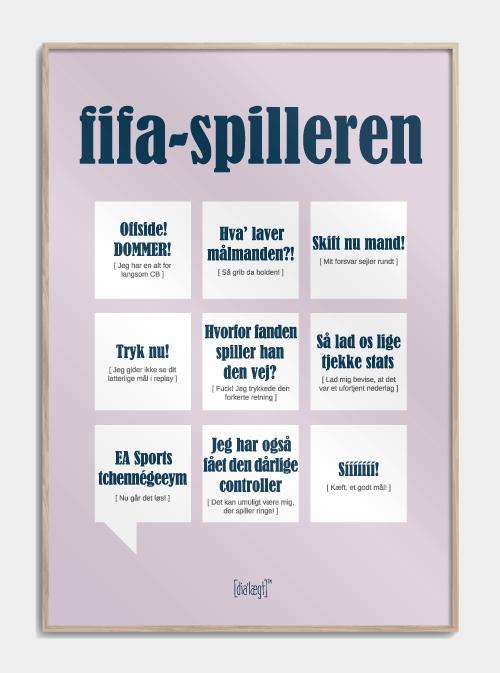 Sjov plakat til FIFA-spilleren
