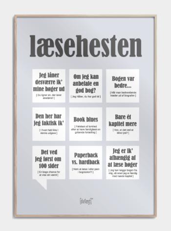 Sjov plakat til læsehesten