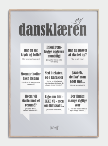 Sjov plakat til dansklæreren,