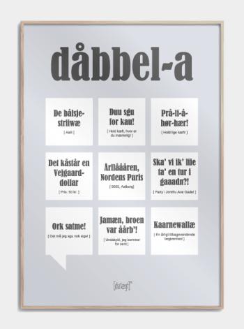 Sjov plakat om Aalborg