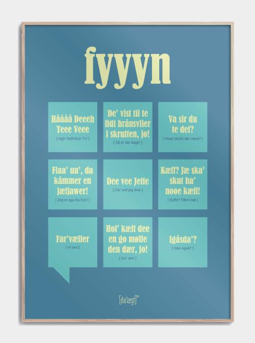 Sjov plakat om Fyn