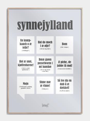Sjov plakat om Sønderjylland