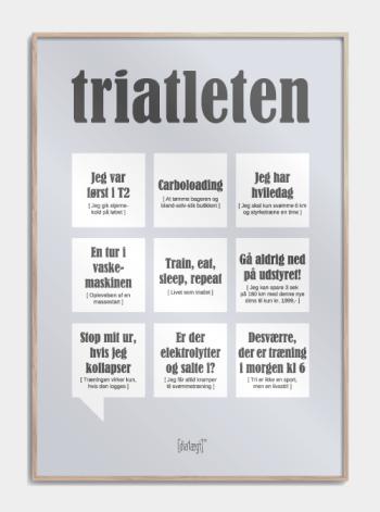 Sjov plakat til triatleten
