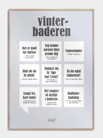 Sjov plakat til vinterbaderen