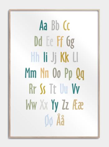 alfabet plakat til drenge