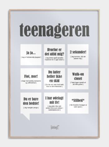 teenager plakat i graa