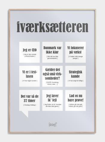 plakat med sjove iværksætter citater