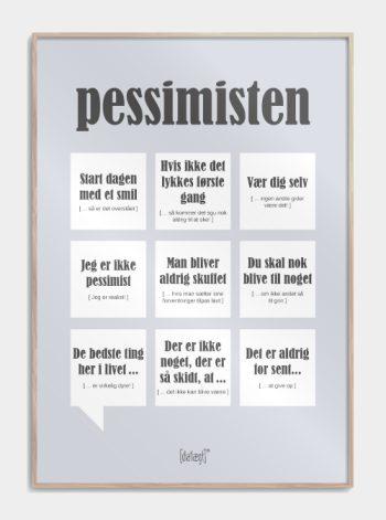plakat med sjove pessimistiske citater