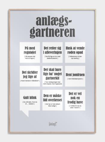 plakat med sjove anlaegsgartner citater