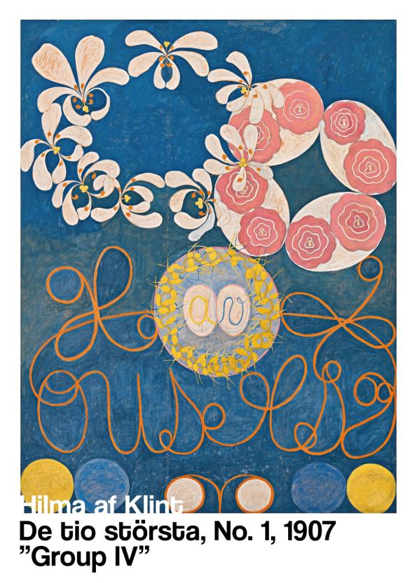 plakater med hilma af klint - De tio största