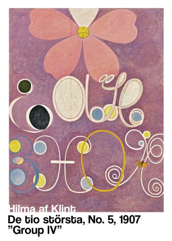 Primordial Chaos - museums plakat af Hilma af klint i de fineste lilla farver