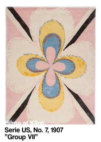 Serie US No 7, 1907 - Group VII - af Hilma af Klint i de fineste lyserøde farver