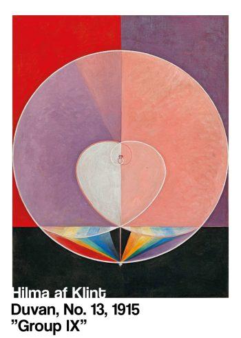 Den svenske kunstner Hilma af Klints plakat af Duvan No. 13, 1915 Group IX i de fineste farver