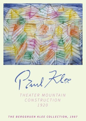 Theater mountain construction paul klee