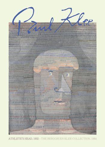 Athlete's head plakat af Paul Klee, som har optegnet et motiv af et ansigt