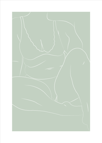 Sarah Frost plakat body positivity i grøn