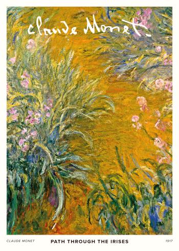 På selve maleriet ses en sti gennem Monets egen smukke have, som består af mange smukke blomster og grønt