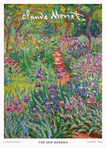 På selve maleriet ses en smuk have med mange blomster, træer og andet grønt, og maleriets varme nuancer giver et kraftigt udtryk af sommer