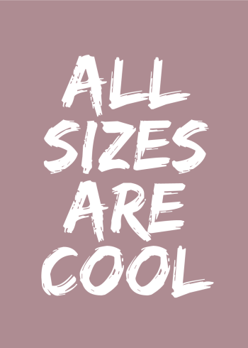 all sizes are cool plakat