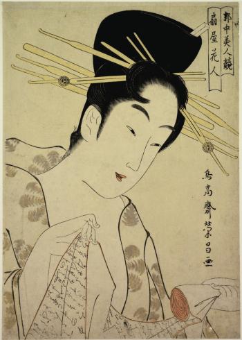 japanske kvinde med pinde i håret