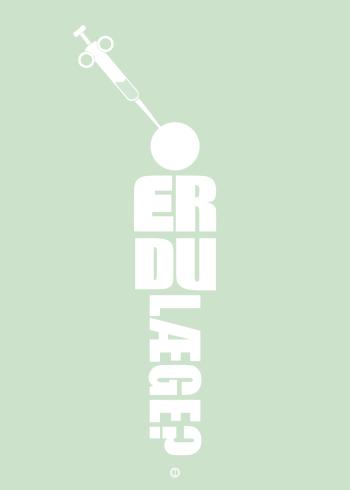 Blinkende Lygter plakat: Er du læge (grøn)