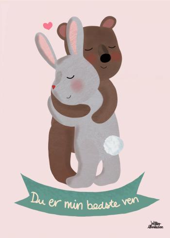 plakat til din bedste ven i lyserød