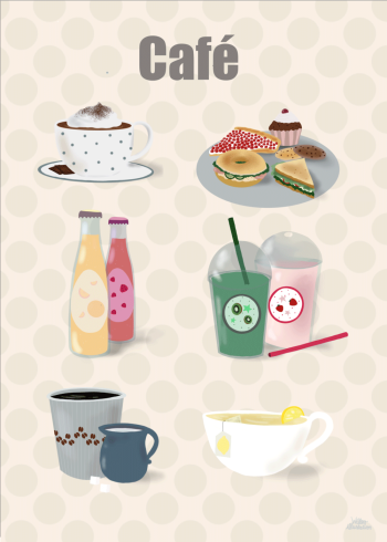 Cafe plakat til børneværelset