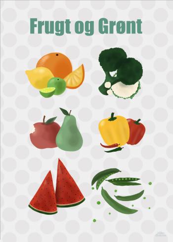Frugt og grønt plakat