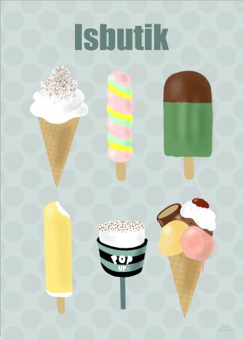 Is butik af 6 forskellige is