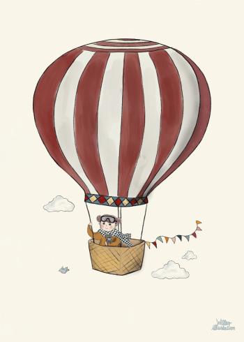 plakat med luftballon til børn