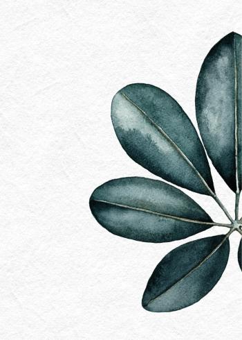 botanisk retro plakat af plante i grønne farver
