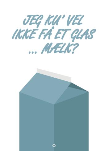 anja og viktor citat plakat - jeg kunne vel ikke få et glas mælk